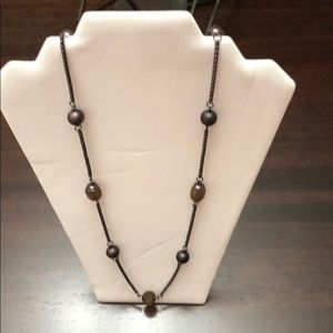 Ann Taylor Bronze Ball Single Strand 18in Necklace